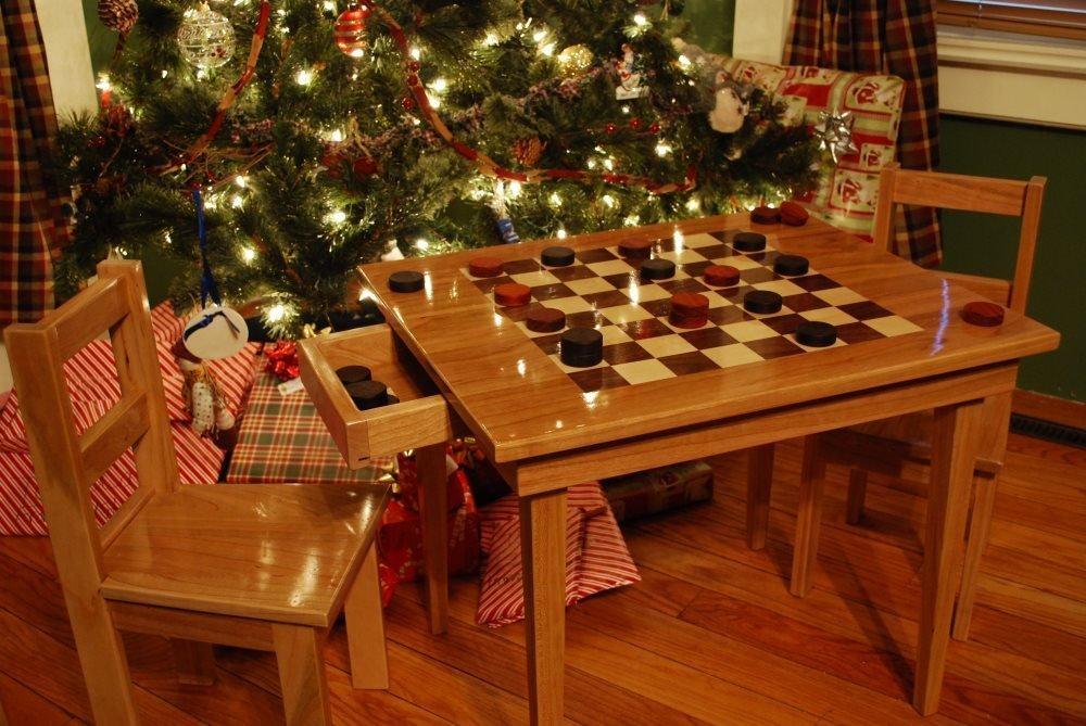 Custom Kids Checkerboard Table Set Saratoga Ny