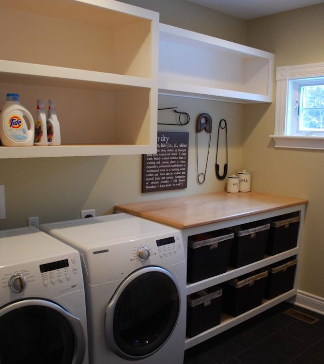 Custom Built-In Laundry