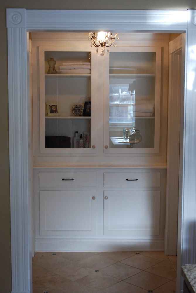 Custom Built In Linen Closet Saratoga County Ny