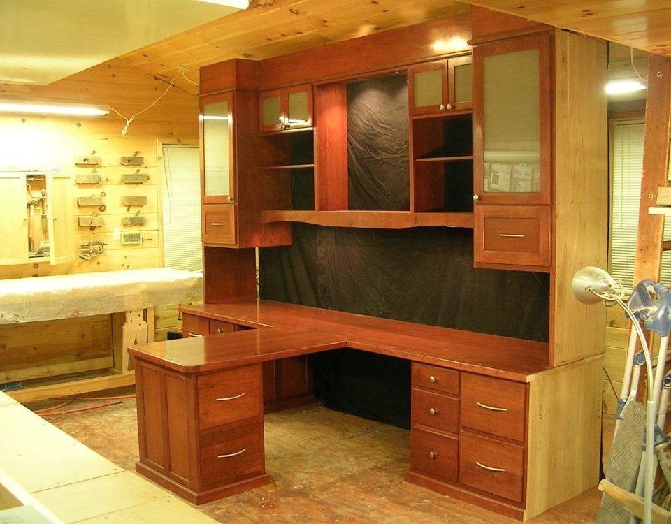 Custom Built-In Cherry Office