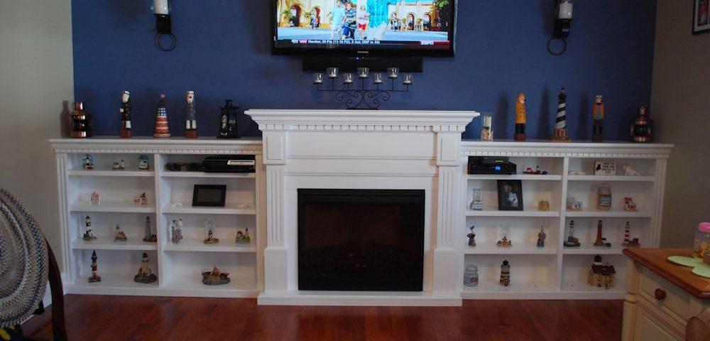 Custom Built-In Side Fireplace