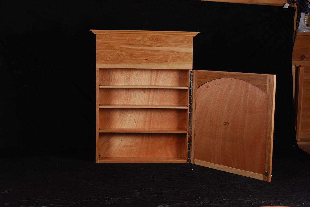 Hickory medicine cabinet larue woodworking - Hickory medicine cabinet with mirror ...