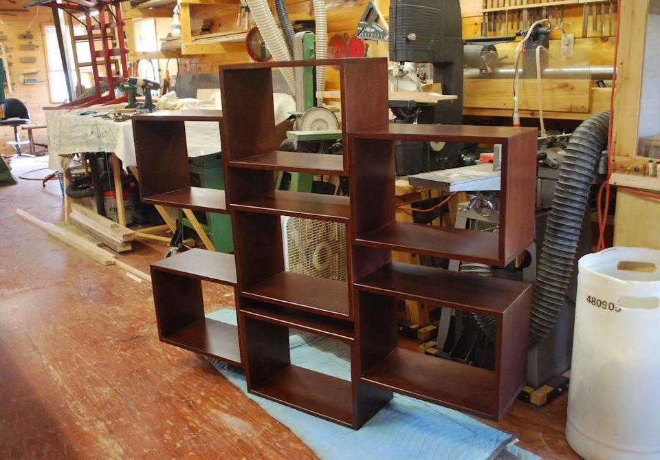 Custom Modern Contemporary Floating Bookcase