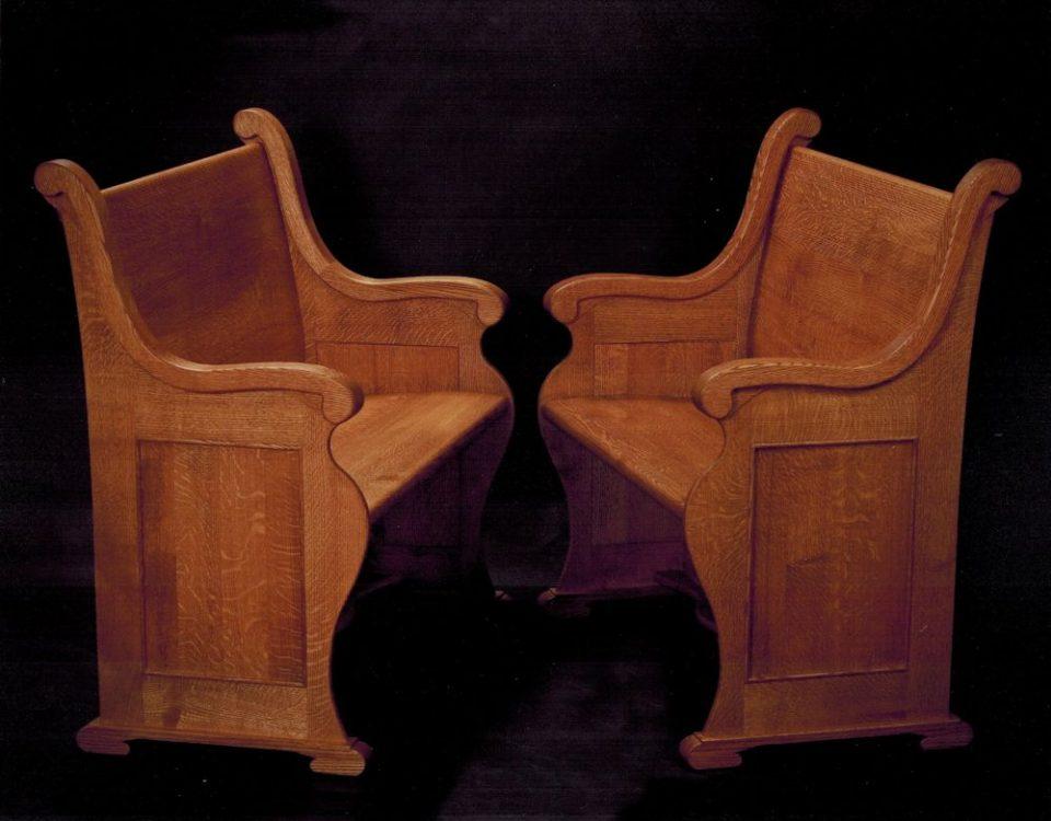 Custom Oak Pew Bench