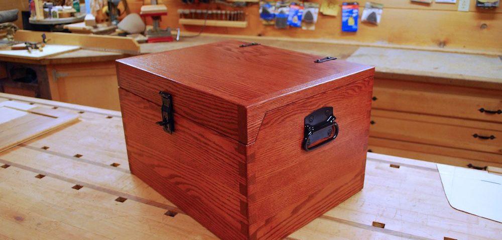 Custom Oak Storage Box