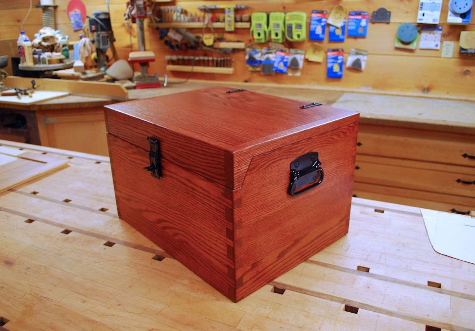 Custom Oak Storage Box