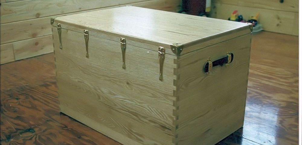 Custom Oak Tack Box