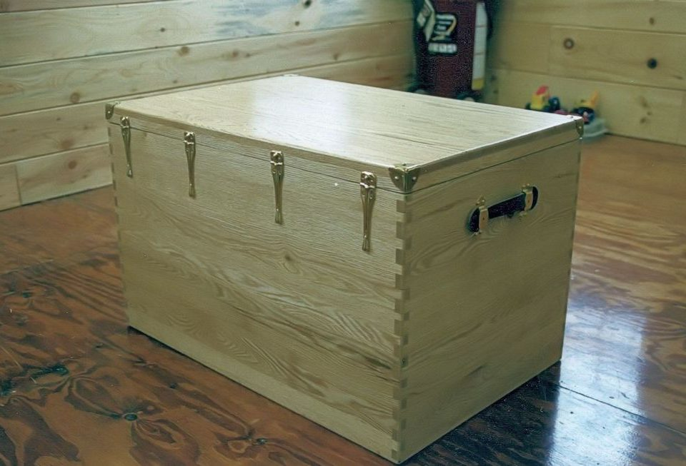 Custom Oak Tack Box