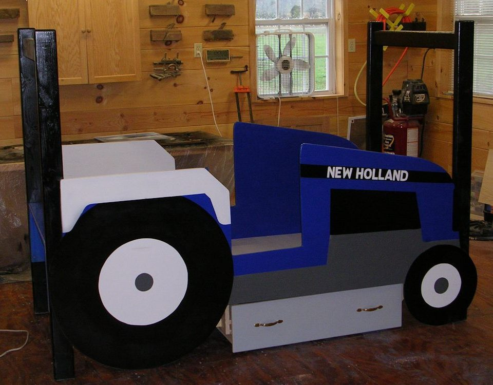 Custom Kids Tractor Bed