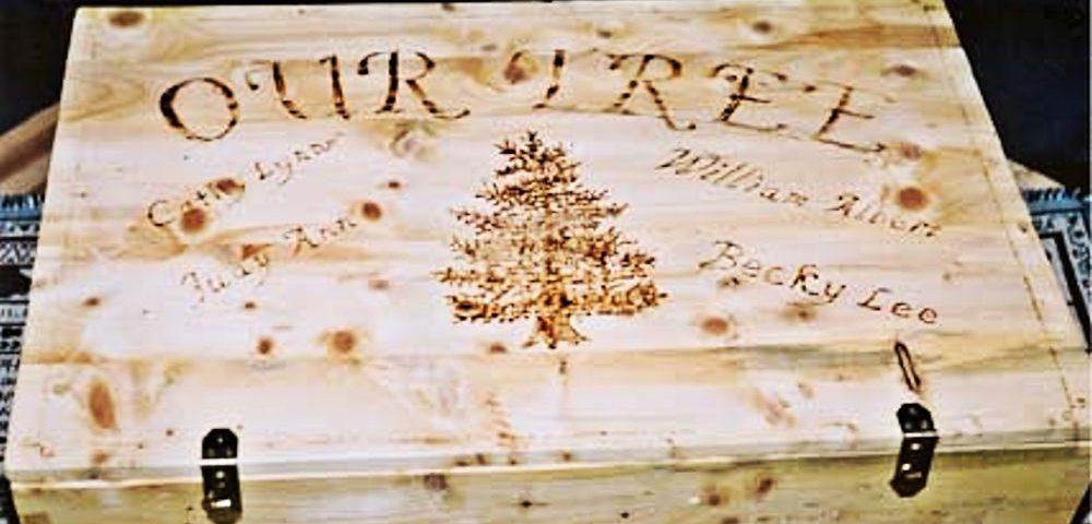 Custom Christmas Tree Keepsake Box