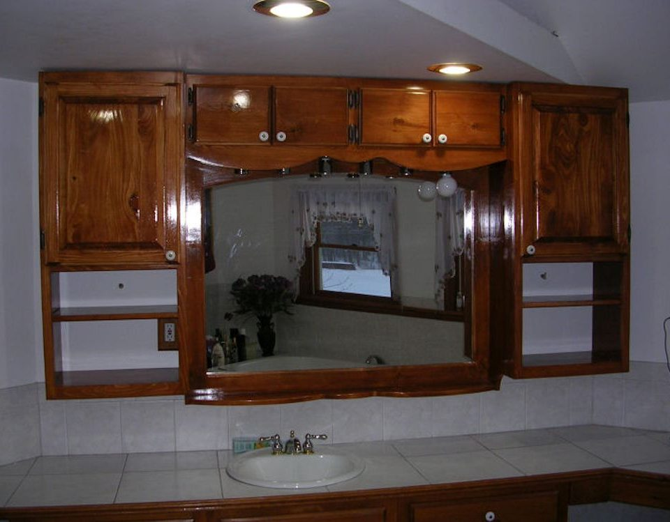 Custom Built-In Bathroom Cabinet