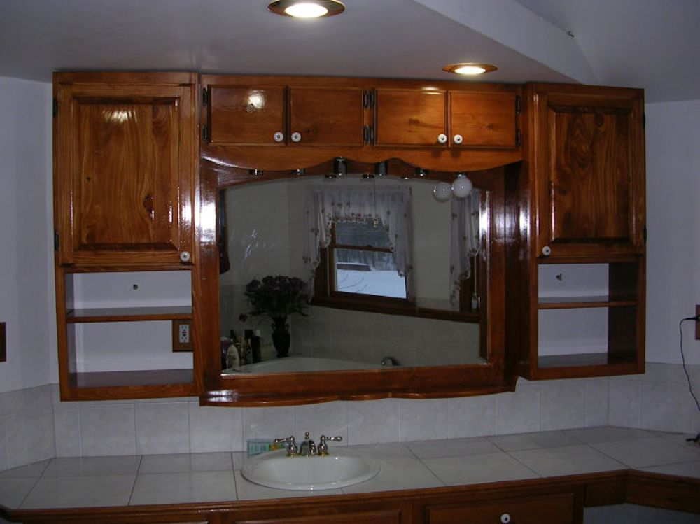 built in bathroom vanities and cabinets custom built in bathroom cabinet saratoga county ny 12660