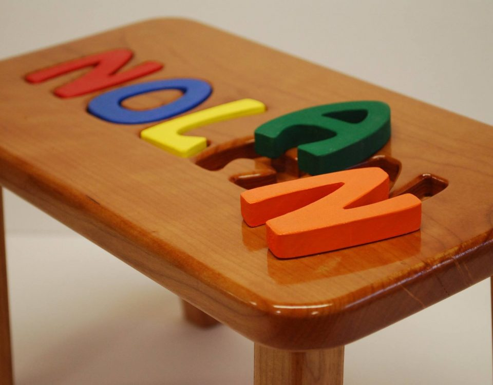 Custom Name Puzzle Stool