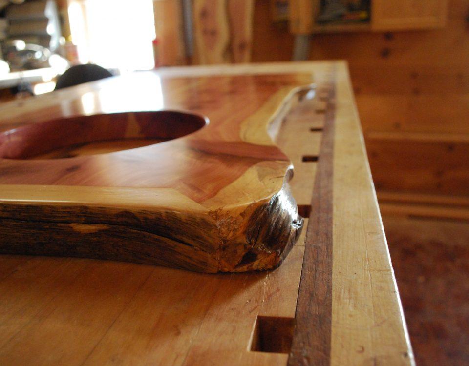 Custom Book-Matched Cedar Vanity Top