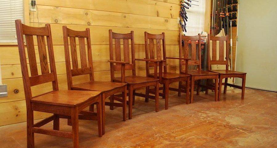 Custom Oak Dining Chairs