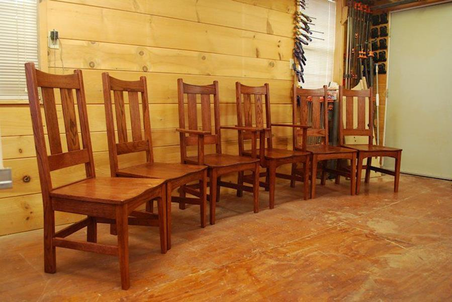 Custom Oak Dining Chairs