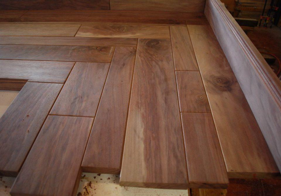 Custom Queensland Walnut Building Block Counter