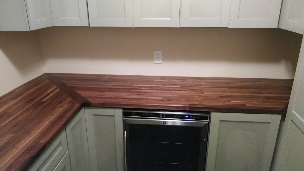 Custom Walnut Butcher Block Counter Saratoga Ny
