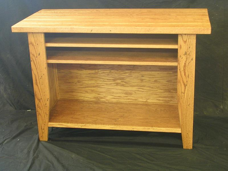 Custom Oak Open front Cabinet