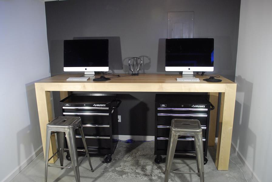 Custom Maple Standing Desk
