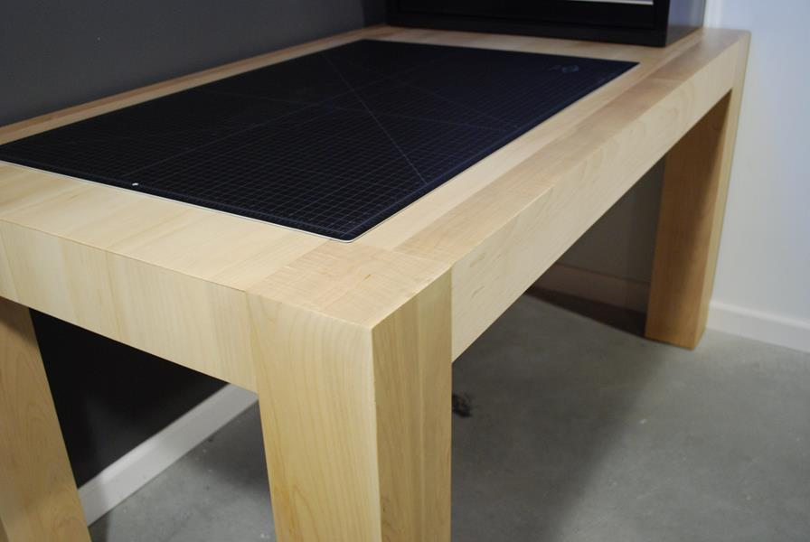 Custom Thick Maple Work Table