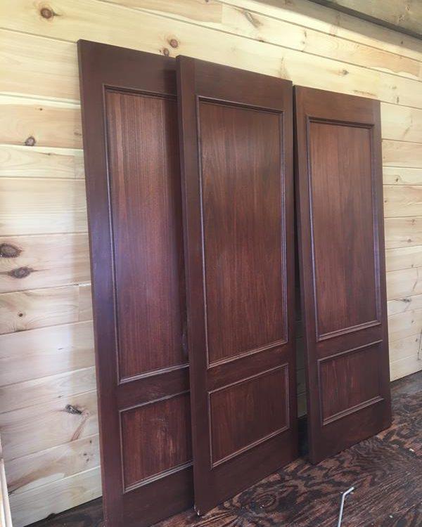 Custom Mahogany Look Doors