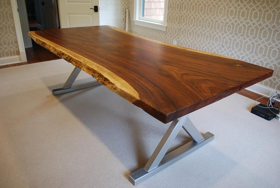 Custom Live Edge Guancaste Table