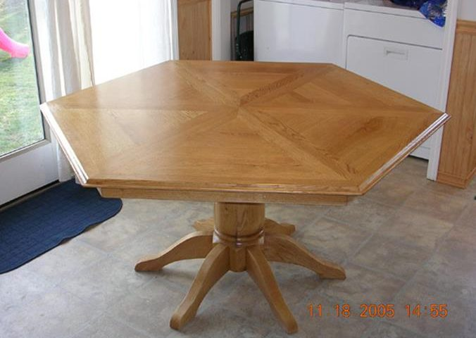 Custom 6 Sided Oak Table