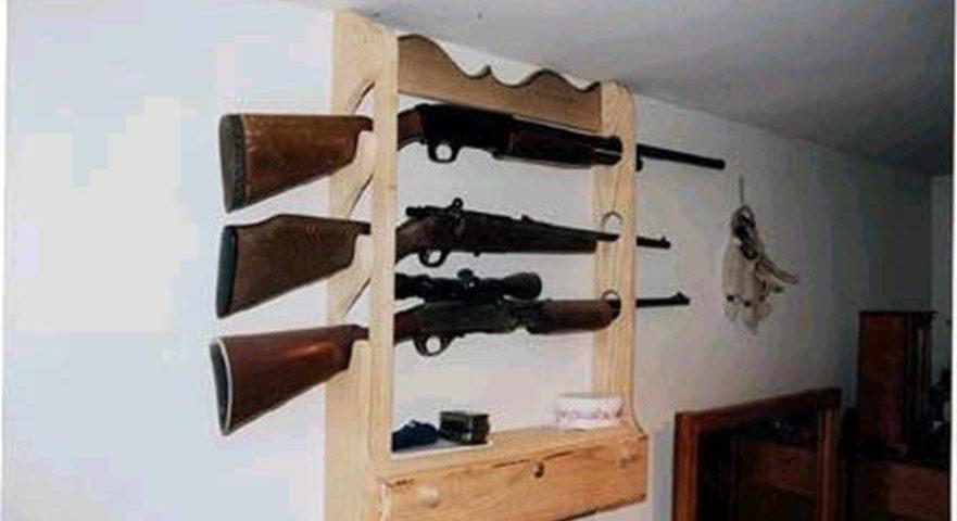 Custom Gun Display Rack