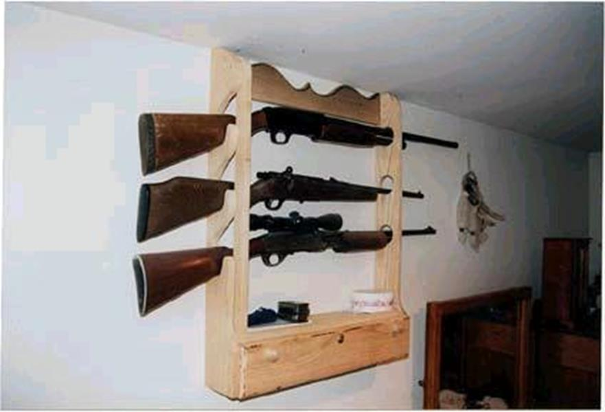 Custom Gun Display Rack