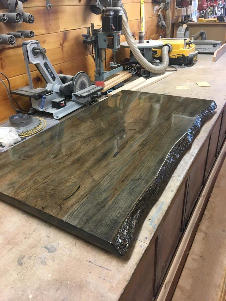 Custom Spalted Maple Bar Top Saratoga County Charlton Ny