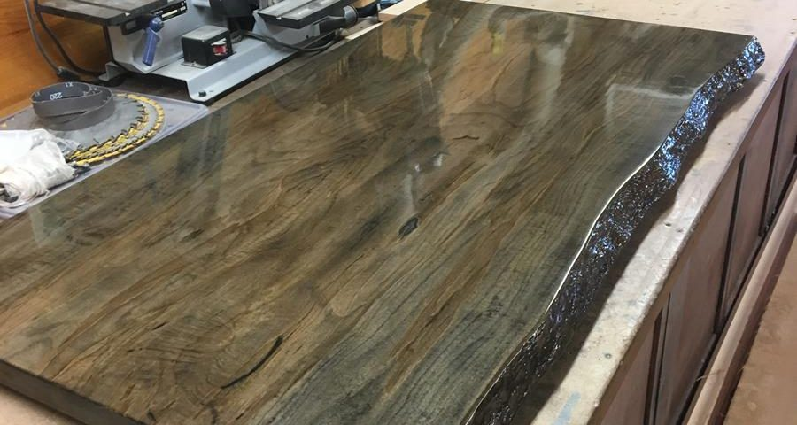 Custom Spalted Maple Bar Top