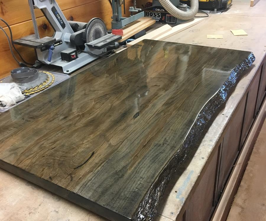 Custom Spalted Maple Bar Top