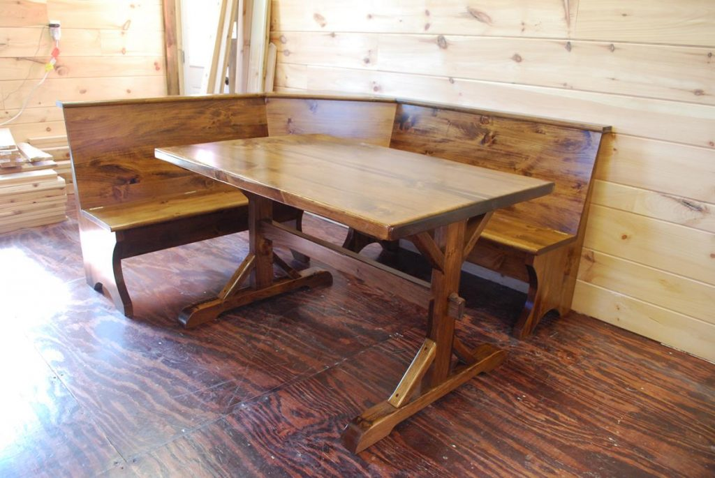 Custom Kitchen Corner Bench and Table, Saratoga NY