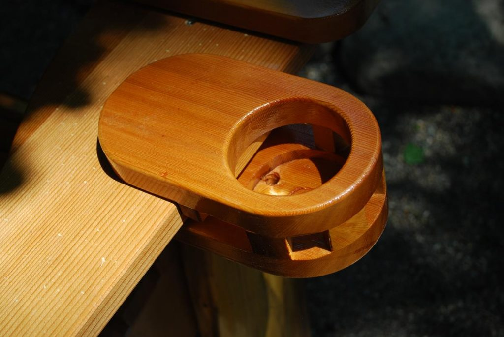 Custom Adirondack Chair Cup Holder Saratoga Ny