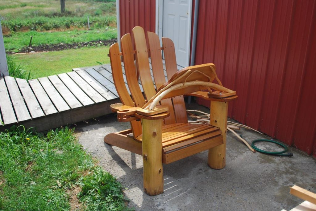 Captivating Custom Adirondack Chair Computer/Book Holder