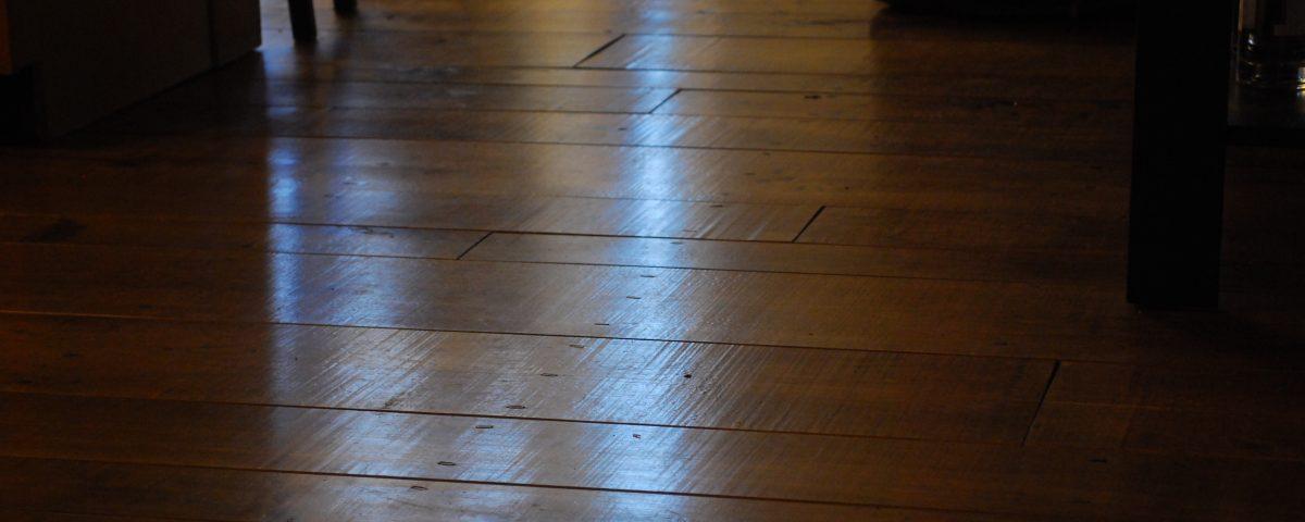 Custom Aged Wide Plank Maple Floor