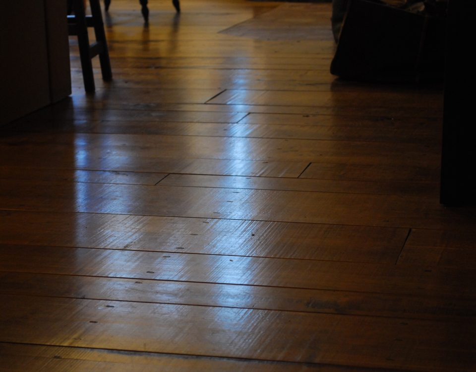 Custom Aged Wide Plank Maple Floor