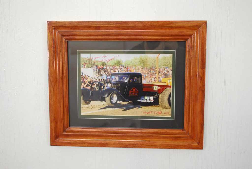 Custom Cherry Frame with Mat, Saratoga County NY