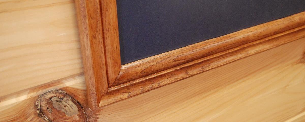 Custom Hickory Frames with matting