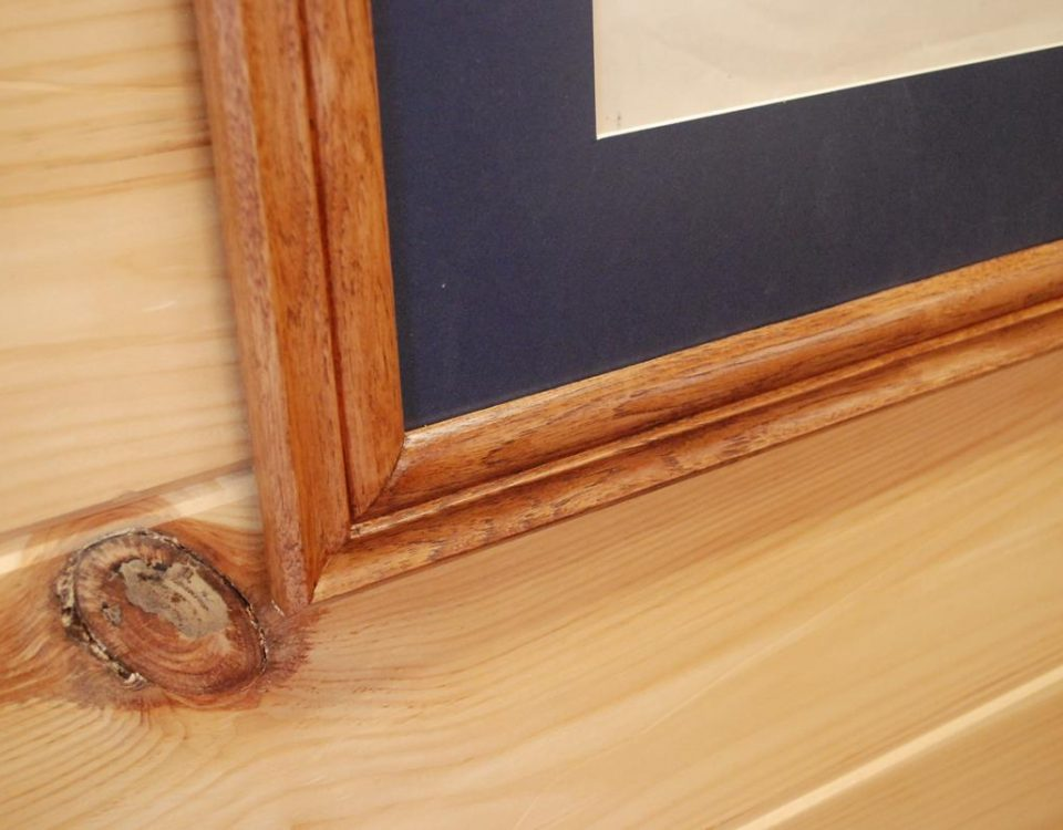 Custom Hickory Frames with matting