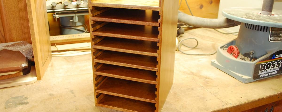 Custom Wood Hard Drive Tower