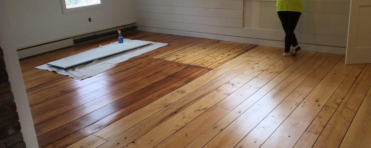 Custom Wide Plank Hemlock Floor