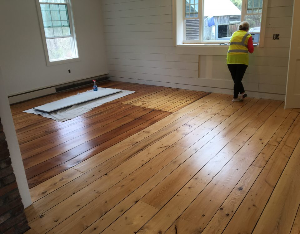 Custom Wide Plank Hemlock Floor