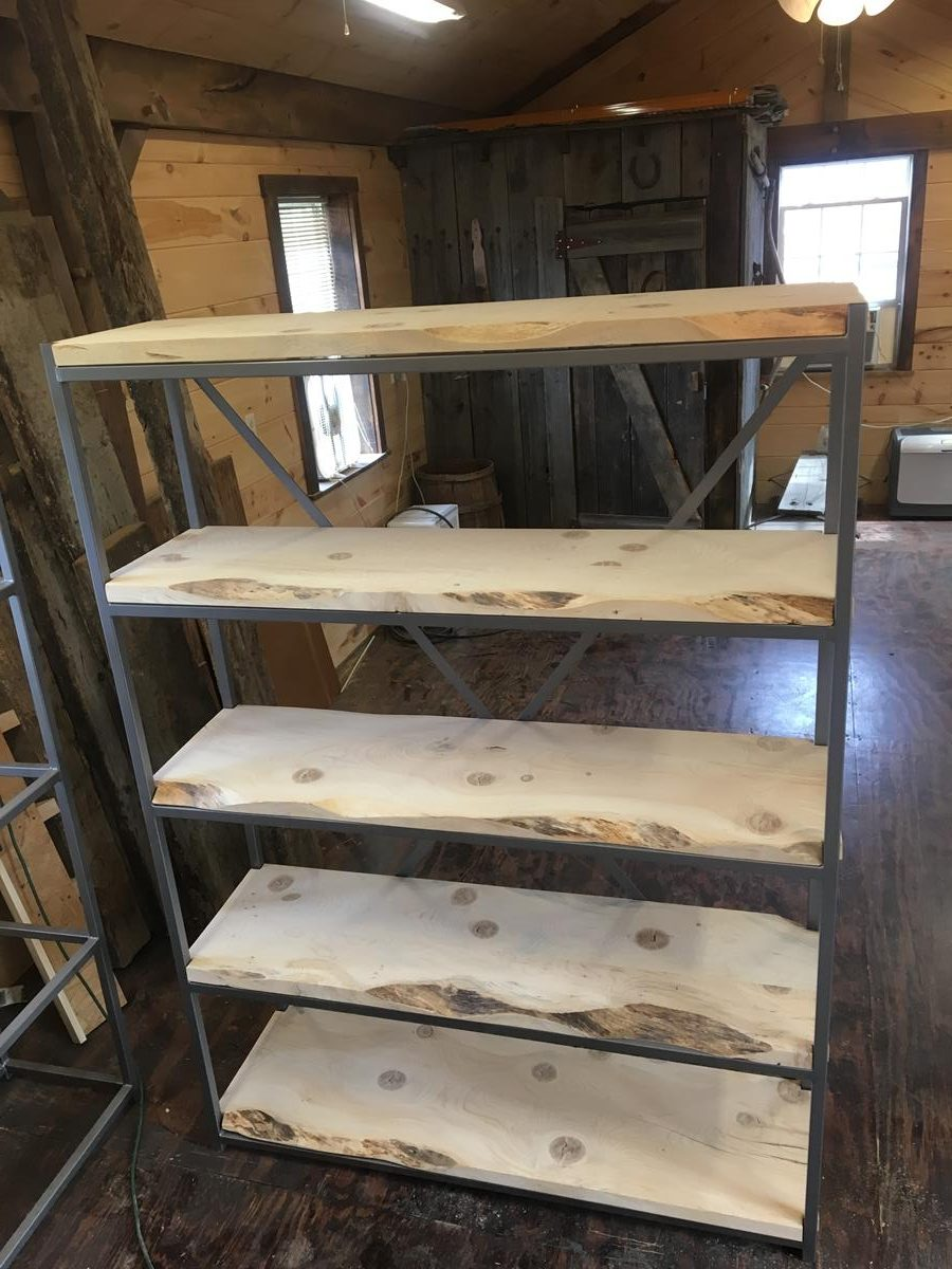 Custom Live Edge Shelving Units Saratoga County Ny