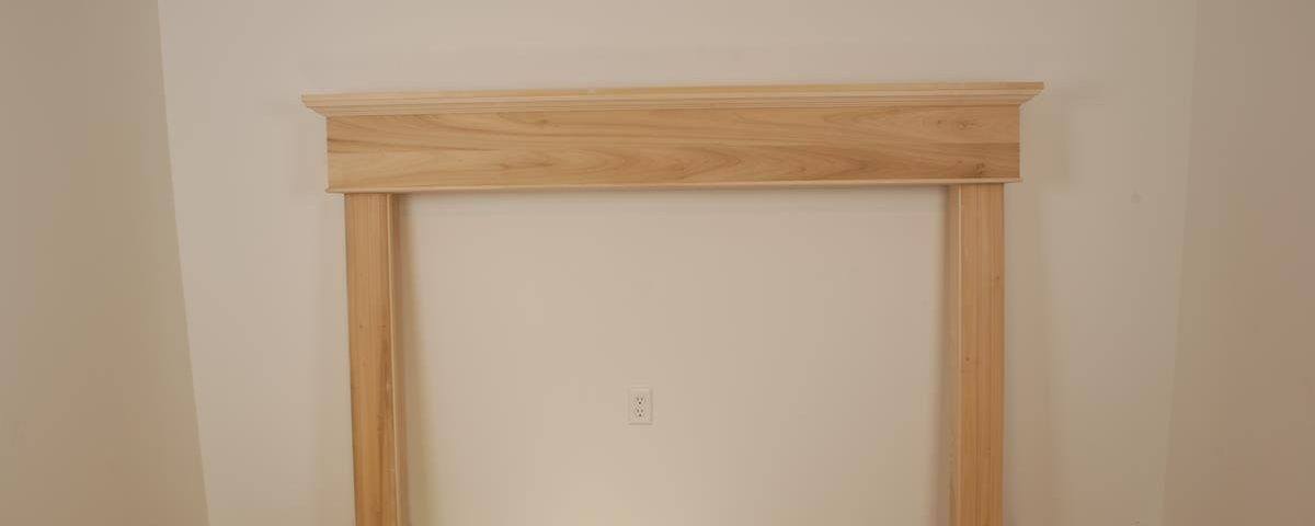 Custom Paint Grade Poplar Fireplace Surround