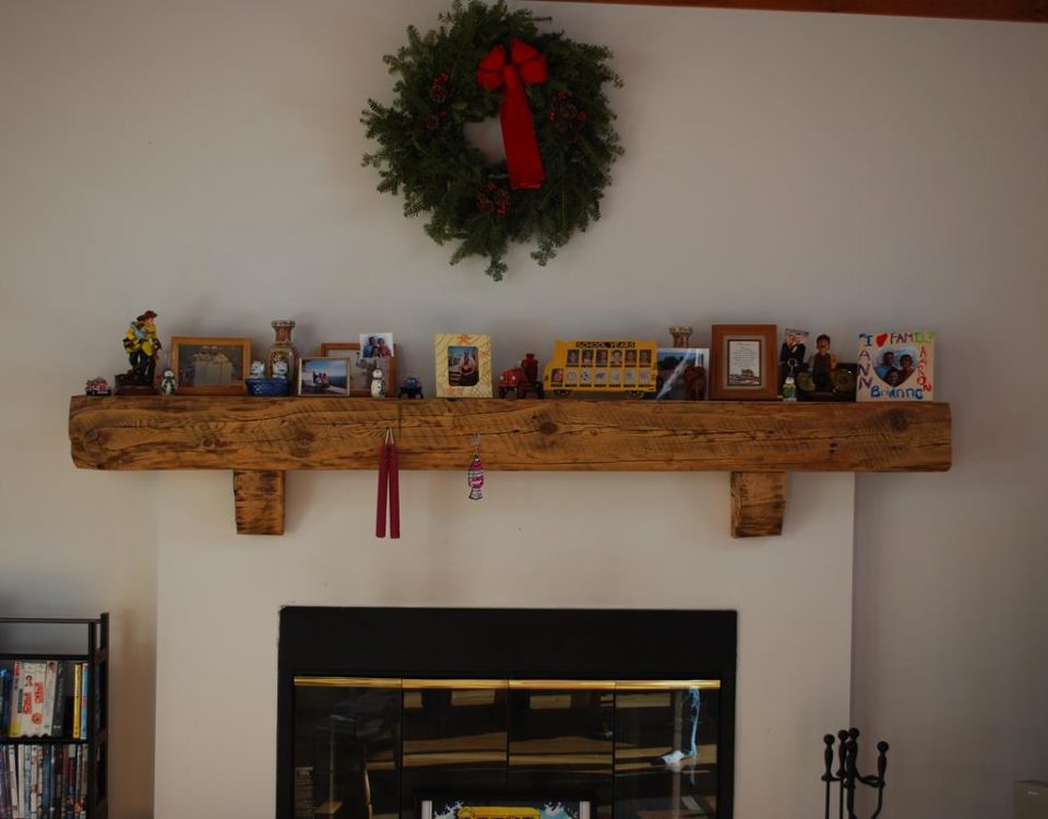 Custom Reclaimed Barn Beam Mantel 6