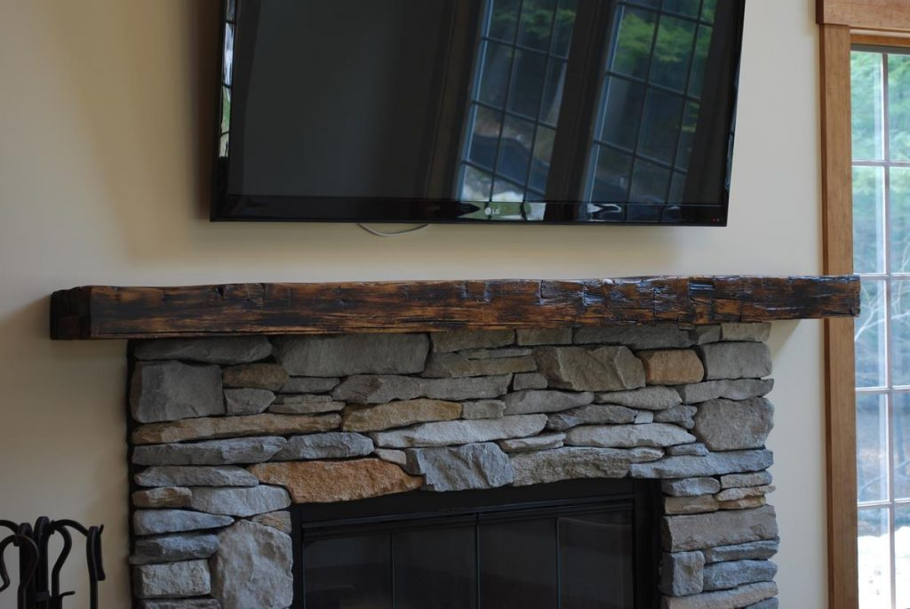 Custom Reclaimed Barn Beam Mantel 5 Saratoga Ny