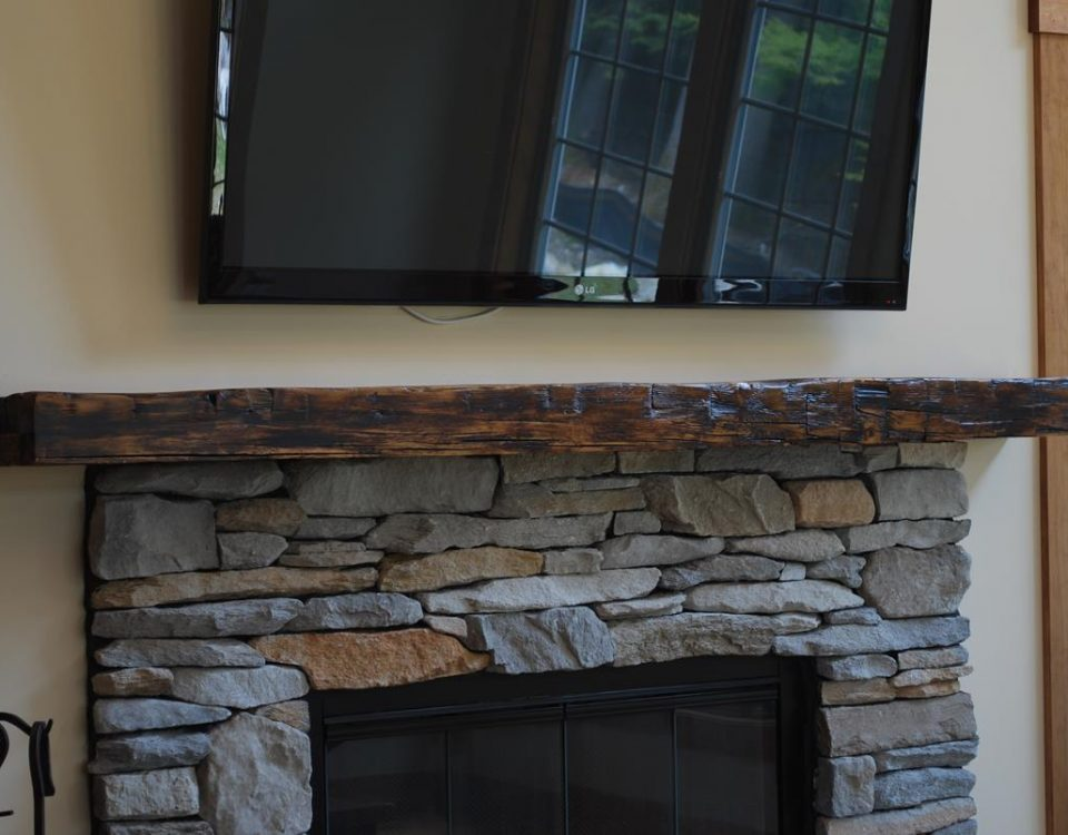 Custom Reclaimed Barn Beam Mantel 5