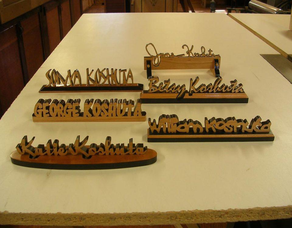 Custom, Name Plates